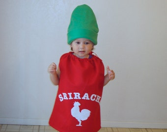 Kids Costume Sriracha Halloween Costume Hot Chili Sauce Toddler Adult Baby Kids Food