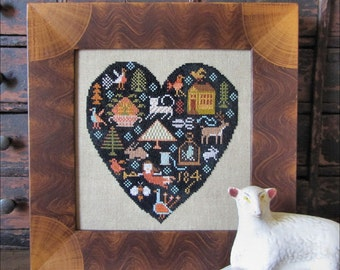Black Heart Sampler Pattern