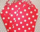 Ruby Red Polka Dot Christmas Gift Tags Large - Pack of 13
