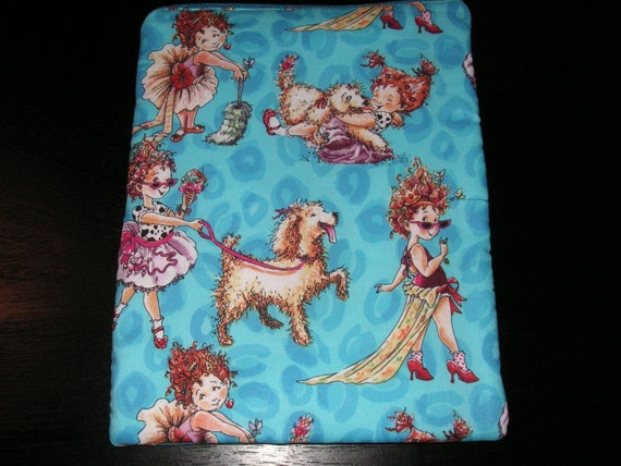 Fancy nancy children 39 s book handmade zipper fabric ipad 2 for Unique childrens fabric