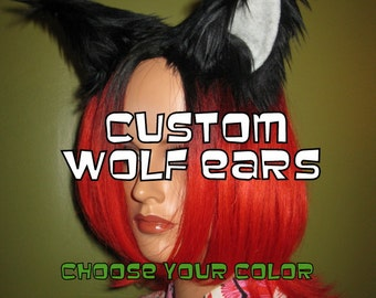 Wolf Ears Only -Custom Choose your color-Anime, Fantasy, Cosplay. Burning Man