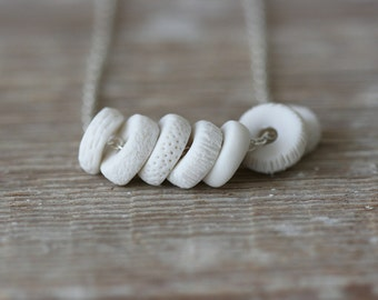 Loop Necklace - Porcelain and Sterling Silver