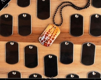 100 Mini Dog Tags for our Epoxy Resin Glaze Drops for DogTag-Epoxy Small Dog Tag Resin Stickers Mini Steel Tags