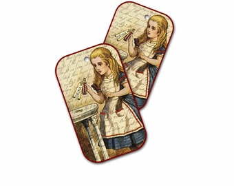 Drink Me Alice Tags, Alice in Wonderland Gift Tags, Fun Party Gift Bag Tag, Fantasy