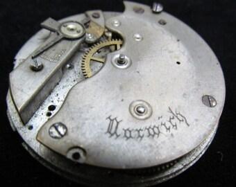 Gorgeous Vintage Antique Watch Pocket Watch Movement Steampunk Altered Art Assemblage Industrial SD 65