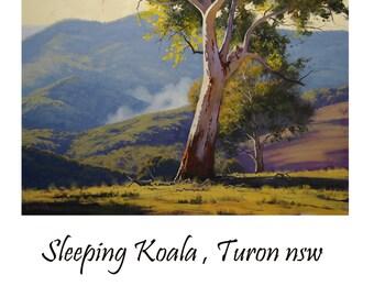 Gum Trees PAINTING Australian Painting Landscape trees Large oil Eucalyptus by G.Gercken