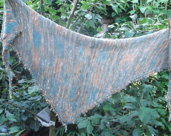 Water's Edge - Triangular Knitted Shawl/Scarf