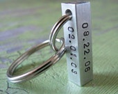 custom four sided bar key chain