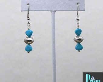 Chalk Turquoise Dangle Earrings