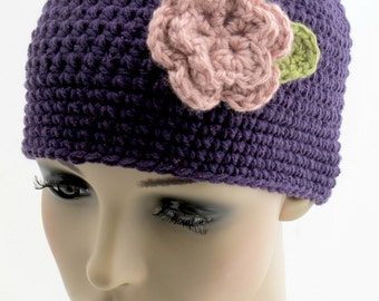 Crocheted Glitter Flower Hat. Toddler. Children.