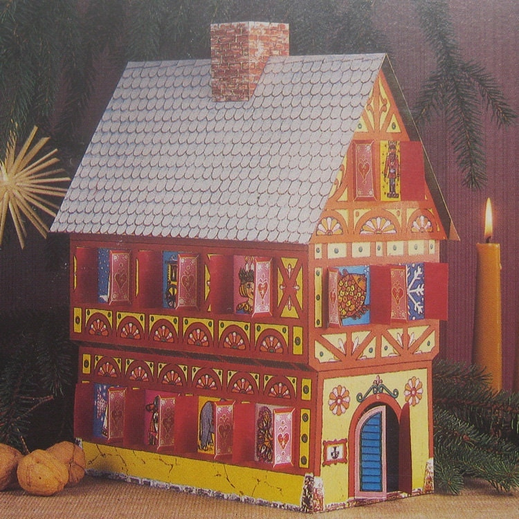 Advent Calendar Diy Kit : Advent calendar kit christmas house made in germany diy d