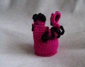 Pink Hen Crochet  Easter Egg Cover