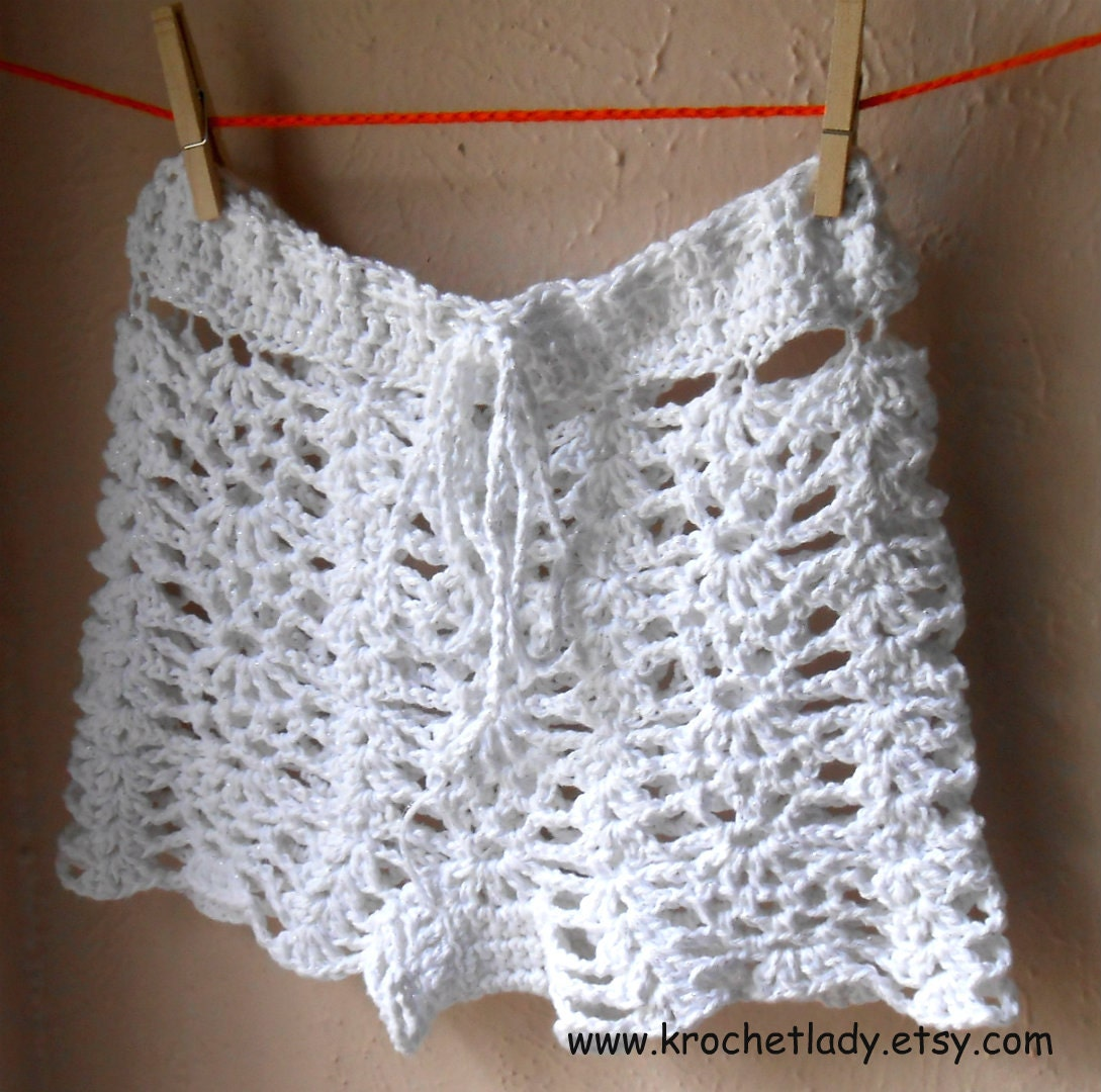 White Crochet Shorts Swimsuit Cover Up Small Beach Shorts