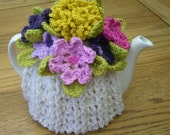 Pattern for Crochet Flower Tea Cosy  (Instant Download)
