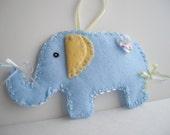 Blue and Yellow Elephant Nursery Decor Ornament Door Hanger Nursery Banner  Handmade by handcraftusa Etsy