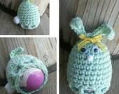 Crochet Easter egg cozy BUNNY Pattern