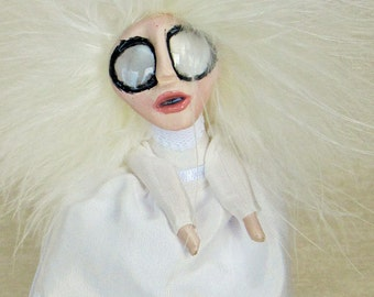 Louise - A Ghost Peg Doll Art Doll