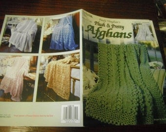 Afghan Crocheting Patterns Paula Vaughn's Plush and Pretty Afghans Leisure Arts 3614 Crochet Pattern Leaflet