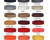 10 Yards Mixed Colors 1.25 inch  Heavy Cotton Webbing   - 45 GORGEOUS COLORS - Mix & Match -  Unbelievable Prices