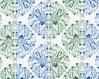 Sale! Fat Quarter of Yuwa Kei Japanese Fabric - CO112481 A - Dancing Girls in Blue and Green
