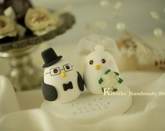 birds Wedding Cake Topper-love bird with sweet heart base (K310)