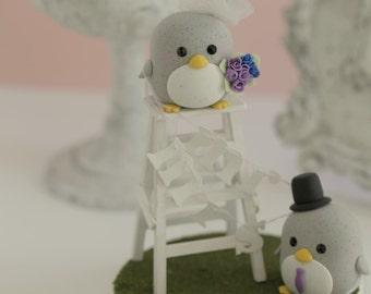 penguin cake topper -----Special Edition (K402),penguin wedding cake topper