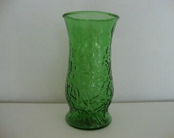 Green vase Tall vase Flower vase Large flower vase Centerpiece vase Brody glass vase Emerald green vase Oak Leaf vase