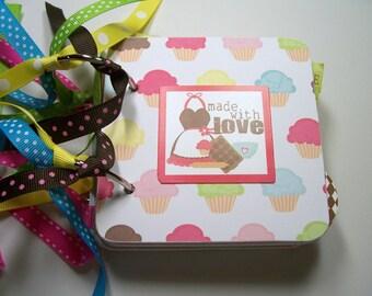 Baking a Cake Mini Scrapbook Album, cake mini album, Baking mini album, baking photo album, baking brag book, baking a cake album,