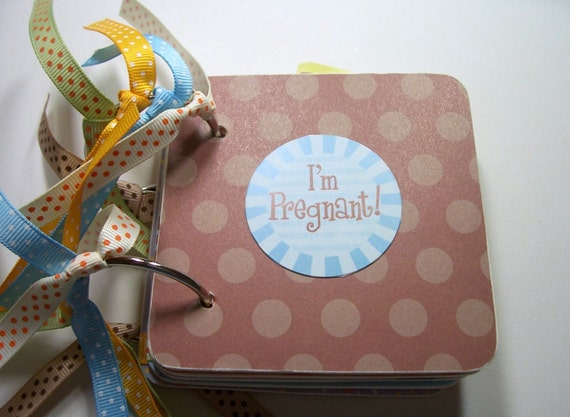Pregnant Mini Scrapbook Album, Pregnant Mini Album, Pregnant Scrapbook, I'm Pregnant Album, Pregnant Photo Album, Pregnant Bragbook