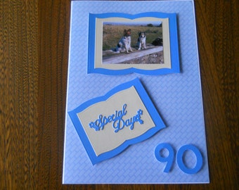 lovely 90th birthday card for a lady or man