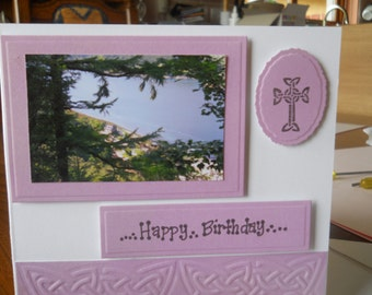 Celtic scottish birthday card