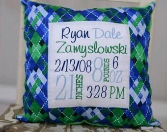 Keepsake Birth Pillow