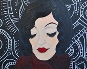 SALE 20% OFF // Coupon code: SALE20 // Thought Patterns - Original Acrylic Painting, 16 x 20 inches