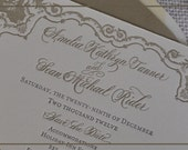 Calligraphy & Letterpress STUNNING Save-the-Date