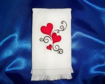 Hearts guest (fingertip) towel