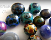 Hey Stud, Handmade Lampwork Glass Stud Earrings,  Many Colors Ready to Ship.  made to order