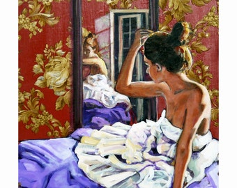 Reflection, Gallery Quality Giclee, Mixed Media, 13x16 in., Stillman