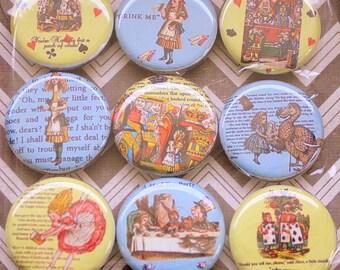 Alice in Wonderland Magnets - One Inch
