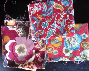 Three Very Rare Chez Moi fabric pieces OOP
