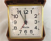 ON SALE was 10.99 Vintage Westclox Travel Alarm Clock