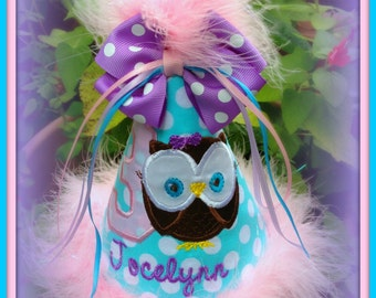 Little OWL Birthday Hat, Look Who's Turning One,  Birthday Hat Boutique Quality,  First Birthday Hat, You Choose Colors, Gingham Bunny