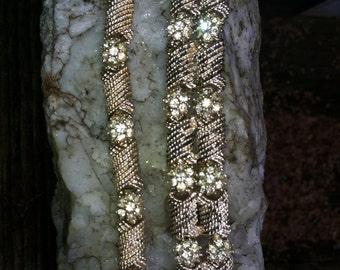 Vintage Rhinestone and Goldtone NECKLACE and BRACELET