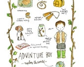 Children's Art - Adventure Boy - Archival Art Print