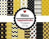 Digital Scrapbook  Mizzou- INSTANT DOWNLOAD