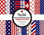 Digital Scrapbooking PlayBall-INSTANT DOWNLOAD