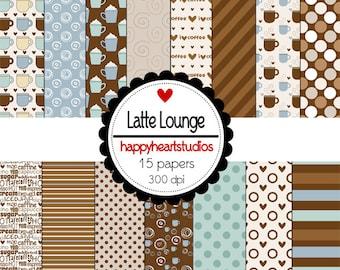 Digital Scrapbook  LatteLounge-INSTANT DOWNLOAD
