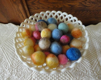 Cats Gone Wild! Set of 9 Alpaca Needle Felted Cat Ball Toys