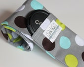 Camera Strap Cover - for DSLR cameras -Made with high quality padding - Cosmo Dots