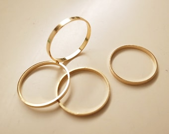 10 pieces of vintage brass circle ring 29 x 2.5 mm plated in gold color