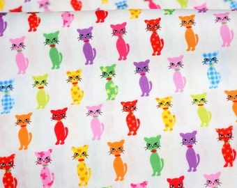 Colorful cat print nc43